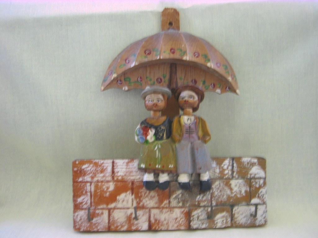 Anri Wood Carved Key Holder