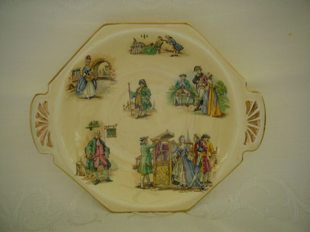 Vintage Royal Winton Grimwades Colonial Figure Dish