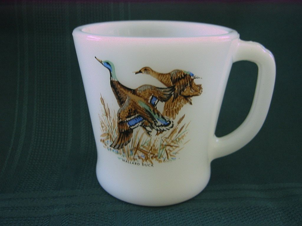 Fire King Mug with Mallard Duck