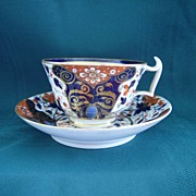 Antique Royal Crown Derby Imari Pattern Bone Porcelain China Cup and Saucer
