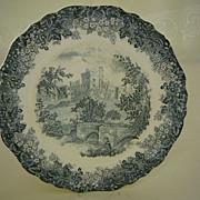 Meakin Staffordshire Transferware 1900's Plate