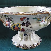 Antique Ironstone Mason's Compote