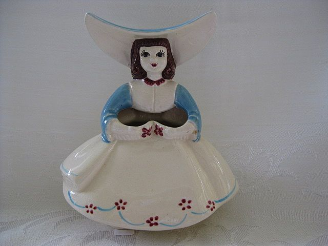 Figural Ceramic Girl Posy Planter/Vase by Goldammer