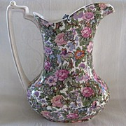 "Early 1900's Chintz Pattern Pitcher/Jug ""Crown Ducal""  by A.G. Richardson & Co."