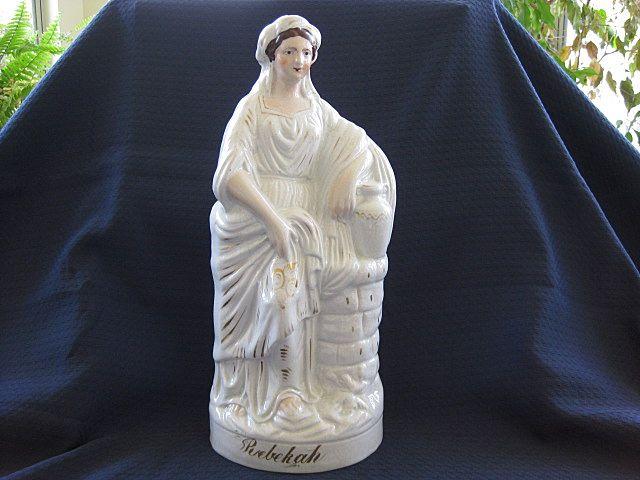 "Very Large Antique Staffordshire ""Rebekah"" Figurine 1860's"