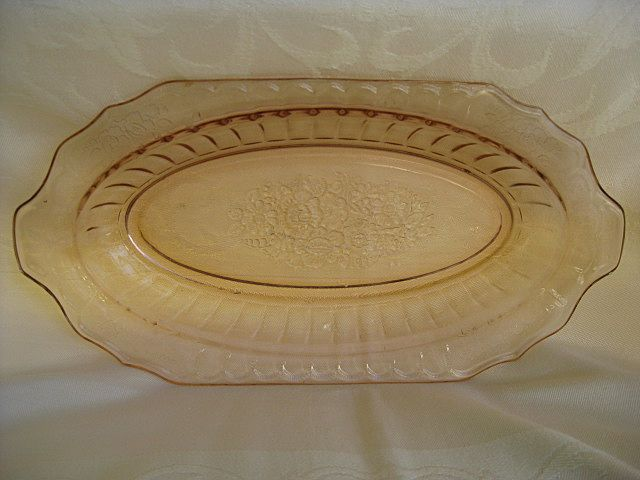 "Pink Mayfair "" Open Rose"" Depression Glass Bowl"