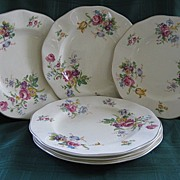 "Set of Six 9"" Wedgwood & Co. 1950's Plates"