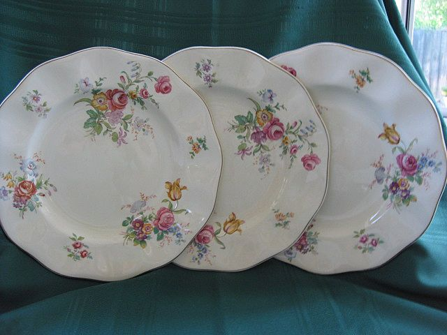 "Set of Three 10"" Wedgwood & Co. 1950's Plates"