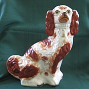 Red and White Staffordshire Spaniel 19 Century
