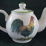 "Small Teapot by English Norfolk China ""Farmyard"""
