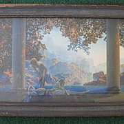 "Vintage Framed Maxfield Parrish ""Daybreak"" Original Print 1923"