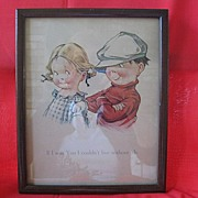 Print of Two Children by Illustrator C. H. Twelvetrees