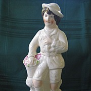 Antique Large Staffordshire Figurine of Young Boy