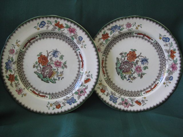 "Two Copeland Spode Plates 7 1/2"" Pattern ""Chinese Rose"""