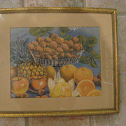 "Vintage Framed Fruit Print 8"" x 10"""