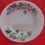 Vintage Brown Transferware Bowl