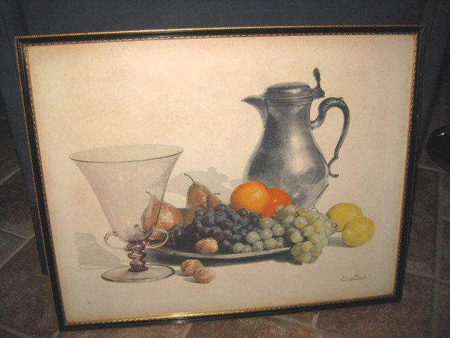 Still-life Print of Fruit Signed and Numbered
