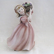 Lefton Figurine Girl with Basket of Fruit