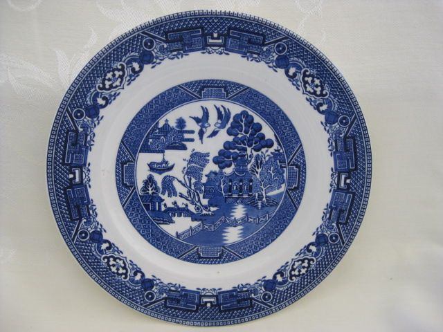 Blue Willow Plate - Made in England