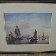 Scottish Framed Seascape Print - The Port of Leith by Alexander Nasmyht