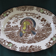 "Large Vintage Turkey Platter 18 ""x 13 1/2"""