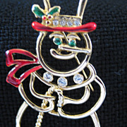 Vintage Snowman Holiday Christmas  Pin
