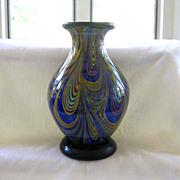 Multicolor Swirled Art Glass Vase