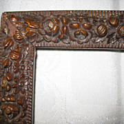 Victorian Carved Wood Picture Frame
