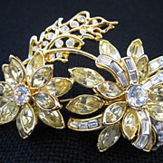 Nolan Miller Vintage Signed Crystal Brooch/ Pin