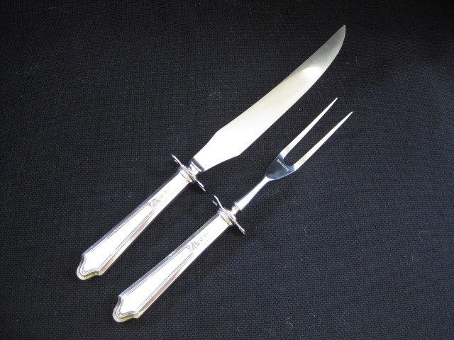 Sterling Handles Carving Set - Knife and Fork