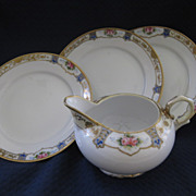 """Four Pieces of Noritake China- Three 6 1/2"""" Plates with Creamer"""