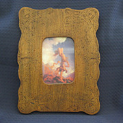 Pyrography Frame with Print