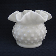 Small  White Hobnail Vase