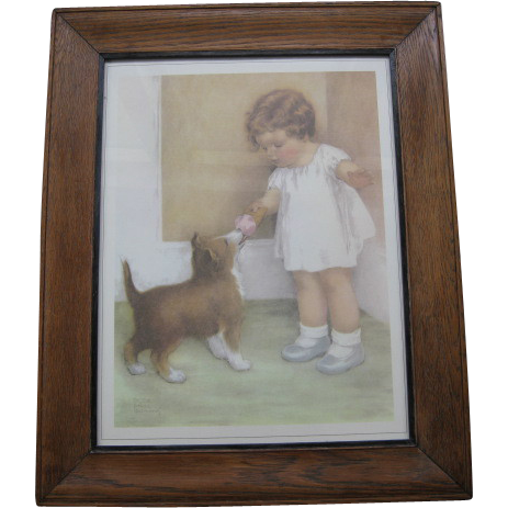 "Large Bessie Pease Gutmann Print ""The Reward"""