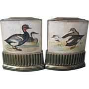 Bookends By Borghese with Duck Decal Decoration