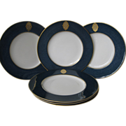 Set of Six Royal Worcester Plates 1930's