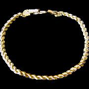 Vintage 14k Rope Chain Bracelet