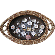 """Sea Shell Tray in Pine Needle Basket 20"""" x 12 1/2"""""""