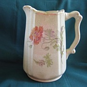 "Vintage Pottery Victorian Pitcher 7"""