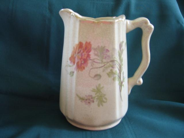 Vintage Pottery Victorian Pitcher 7""