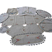 Vintage Embroidered Dresser Scarfs