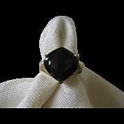 14K Gold Smoky Quartz Ring