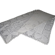 "Lovely Cut Work Dresser Scarf/Runner  55"" x 13"""