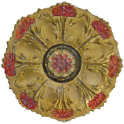 Goofus Glass Carnation Plate Early 1900's
