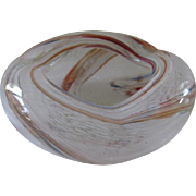 Venetian Murano Blown Art Glass Ashtray Bowl
