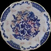 Antique Flow Blue Plate 1800's
