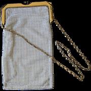 Vintage Whiting and Davis White Enamel Mesh Evening Purse / Bag