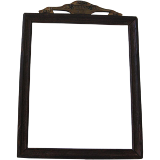 Small Wood Frame with Top Barbola Design