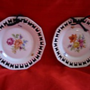 Pair of Bavarian Schumann Hanging Small Plates Decorative