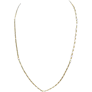 Vintage 18K Gold Bead Chain Necklace